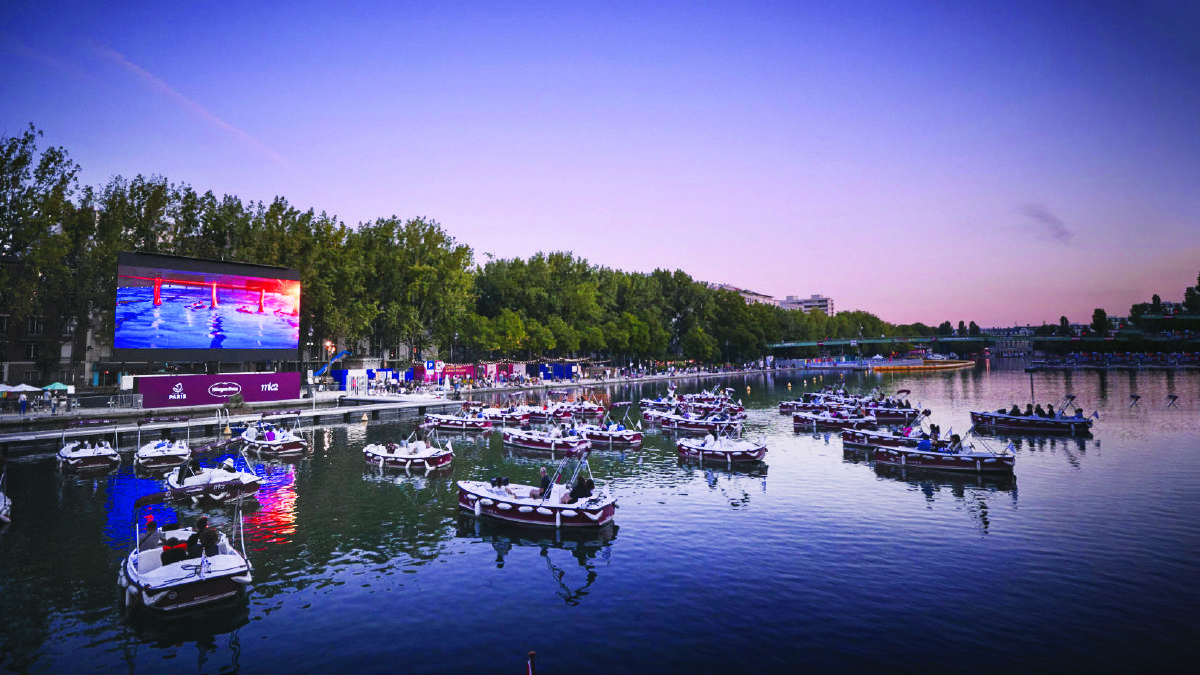 A float-in cinema just adds to the list of water-based activities that could be on the cards this spring. Picture: Supplied