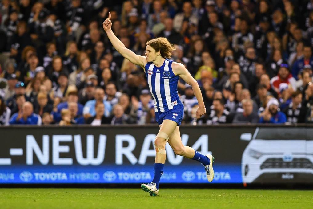 ROO BEAUTY: Ben Brown has given North Melbourne fans plenty to cheer about during his eight seasons at the club. Picture: Morgan Hancock