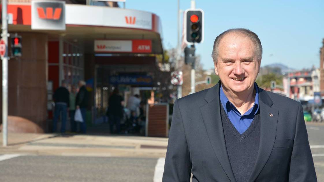 POSTIVE: Muswellbrook Chamber of Commerce and Industry president Mike Kelly is encouraging residents to be alert, but not alarmed.